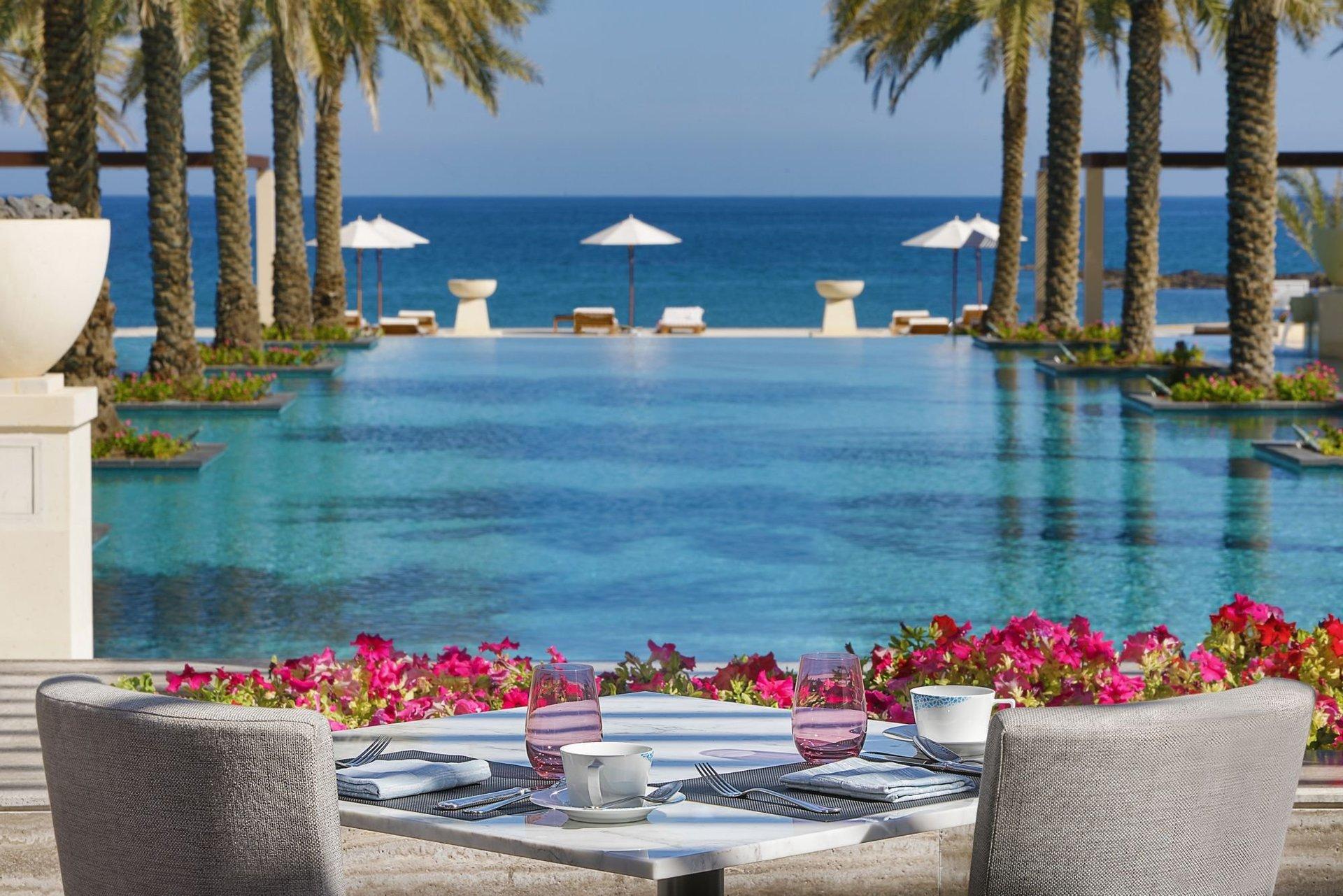 Hotel Al Bustan Palace terras - Muscat