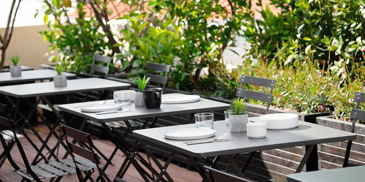 The Modernist - Restaurant dakterras