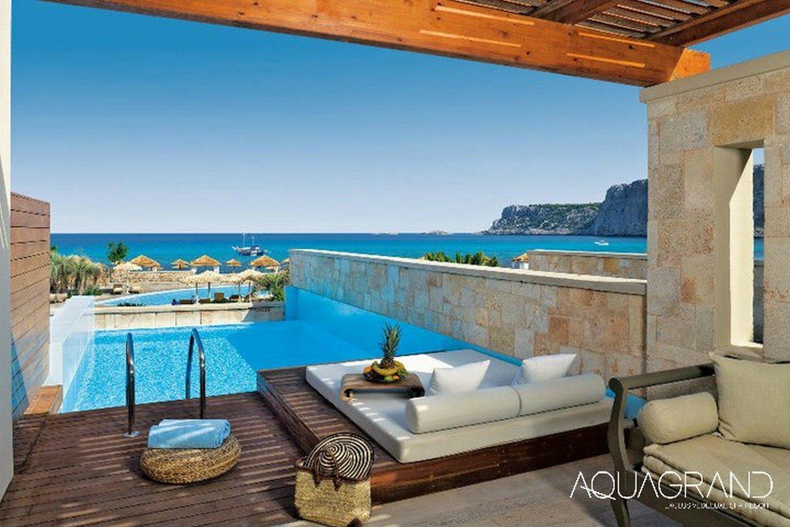 Hotel Aquagrand Exclusive Deluxe Resort - Lindos - Kamer Princess Pool Suite