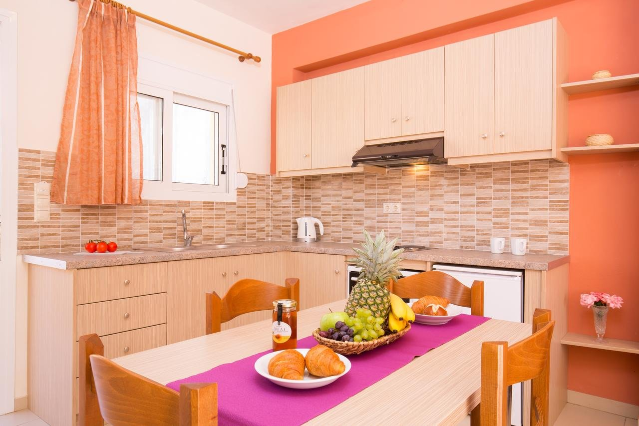 Appartementen Odysseus - Agios Gordis - kamer - keuken