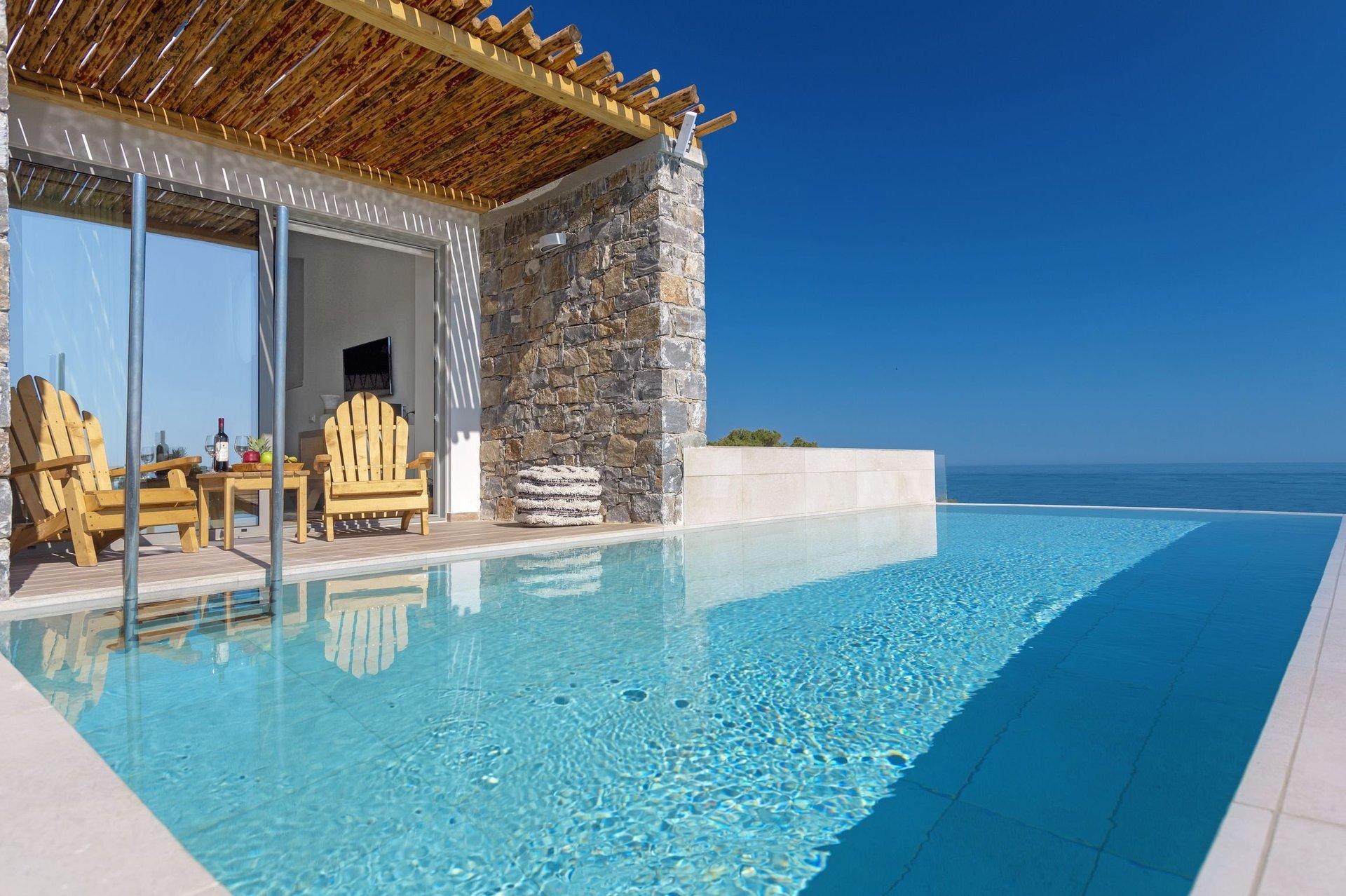 Hotel Atermono Boutique Resort & Spa - Rethymnon - kamer-deluxe suite - privé zwembad