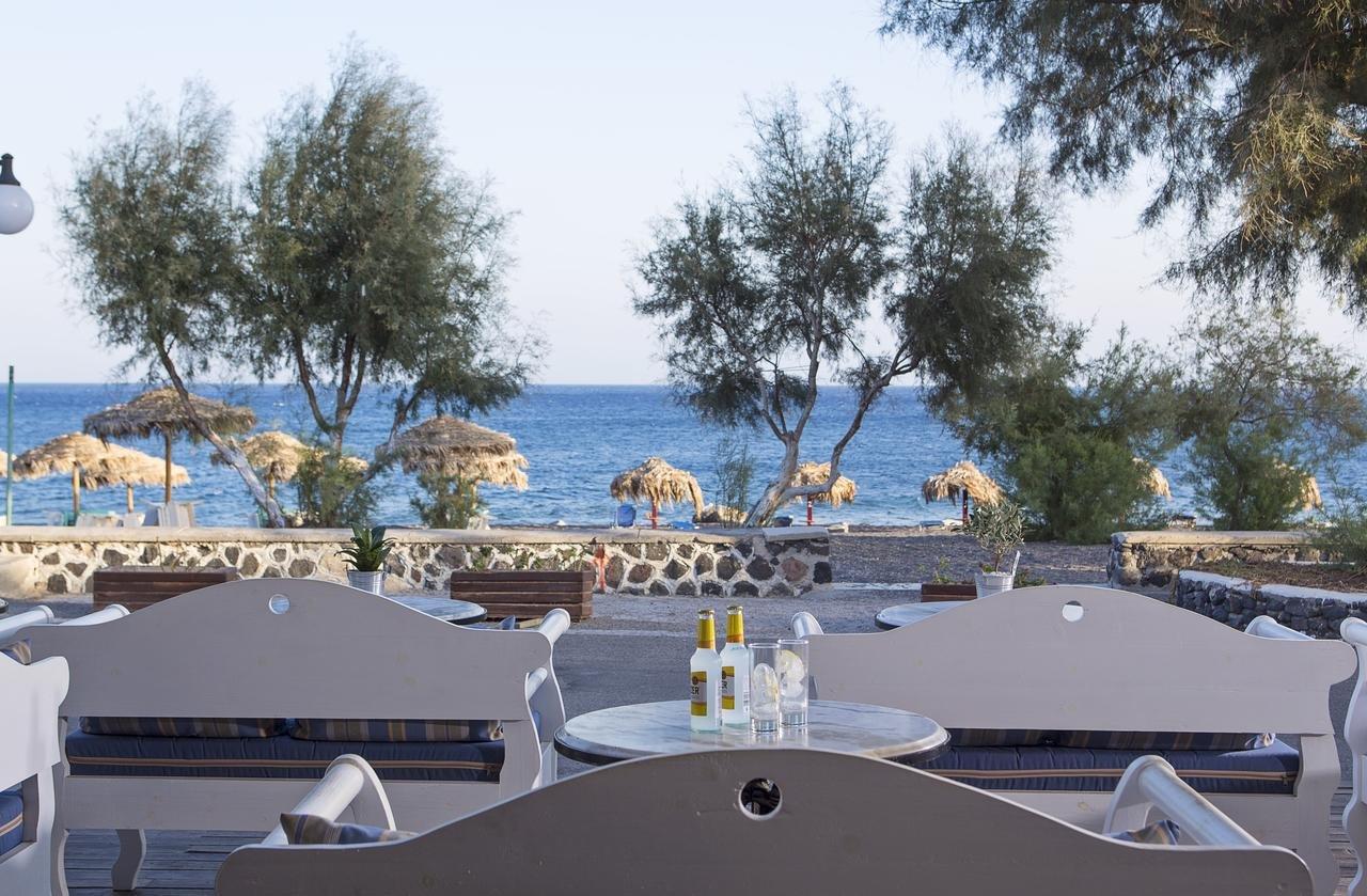 Hotel Veggera - Santorini -terras