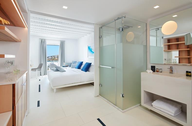 Hotel Myconian Ambassador - Platis Yialos - kamer-zeezicht
