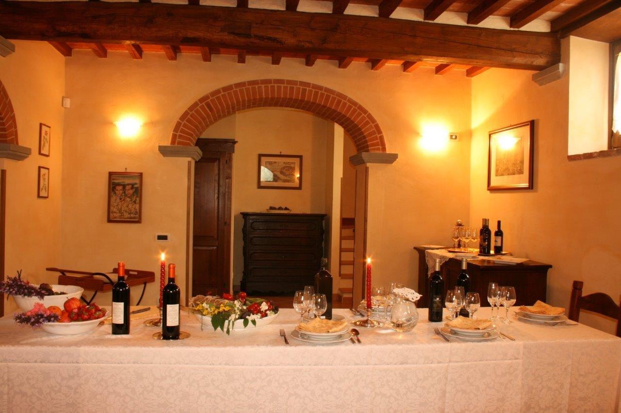 Villa degli Olivi gedekte tafel