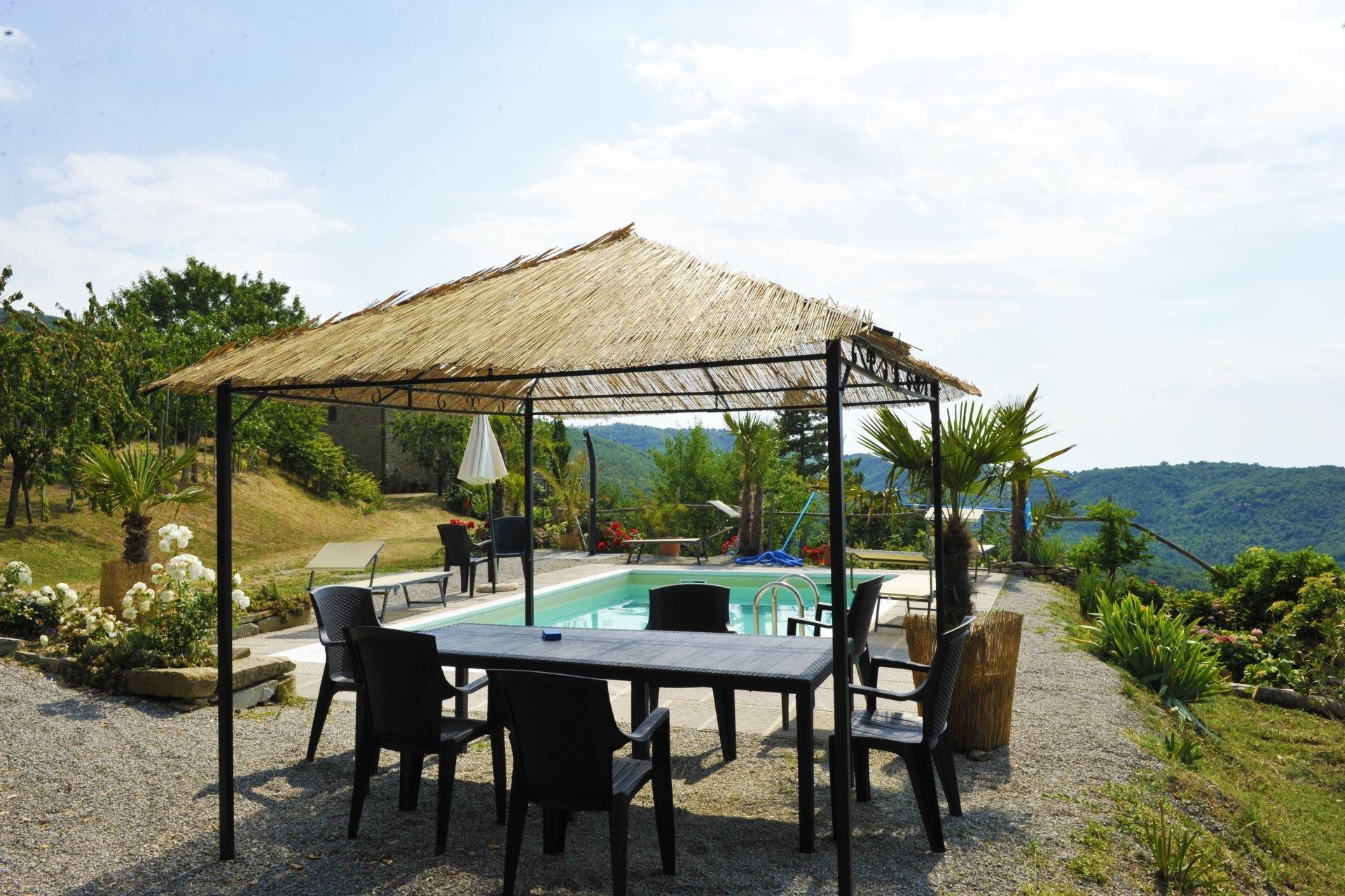 Casetta Ciliegi - Overdekt terras bij zwembad