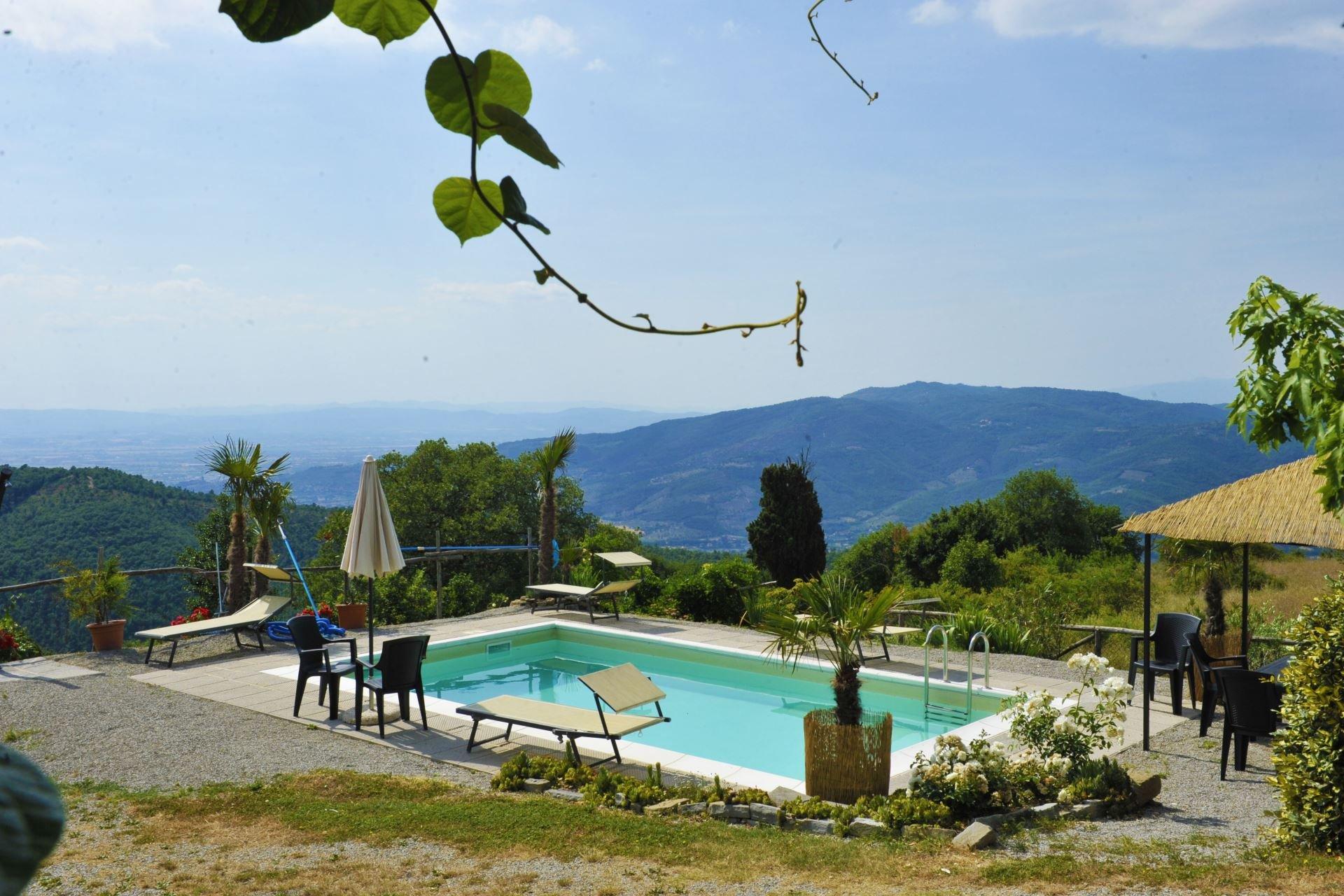Casetta Ciliegi - zwembad met uitzicht