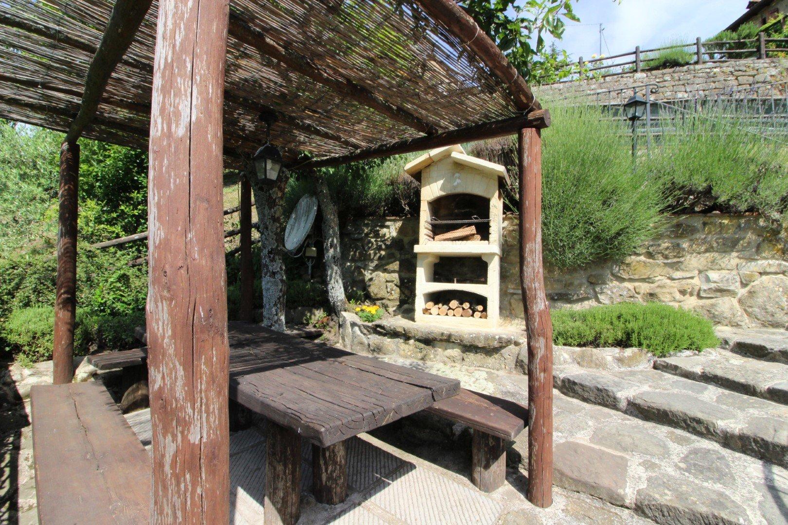 Santa Cristina - overdekt terras met pizzaoven