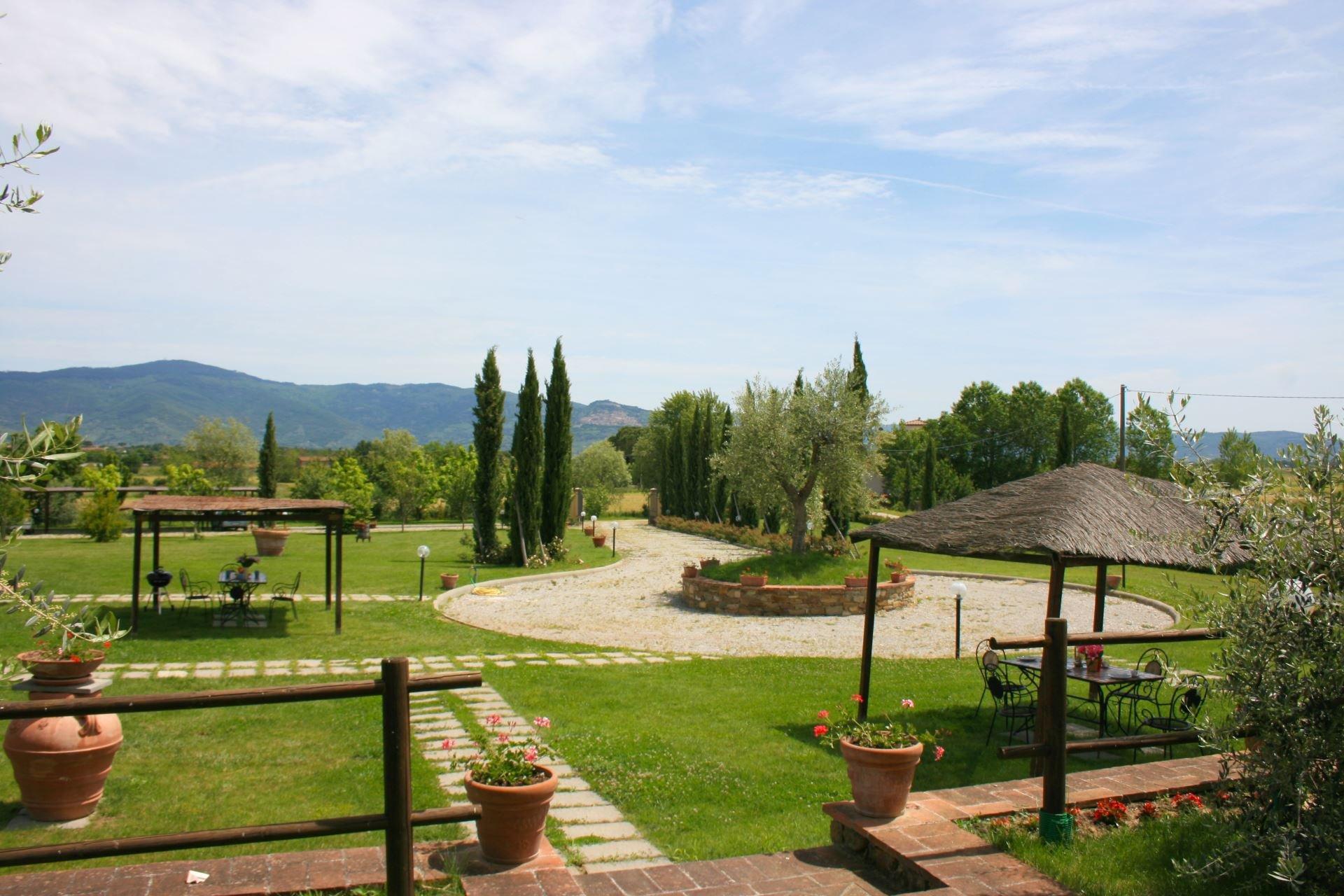 Podere Marcigliano - tuin  met terrassen