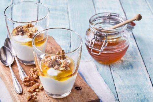 shutte yoghurt met honing