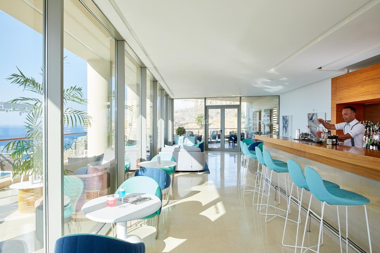 Lindos Blu Luxury Hotel & Suites - bar