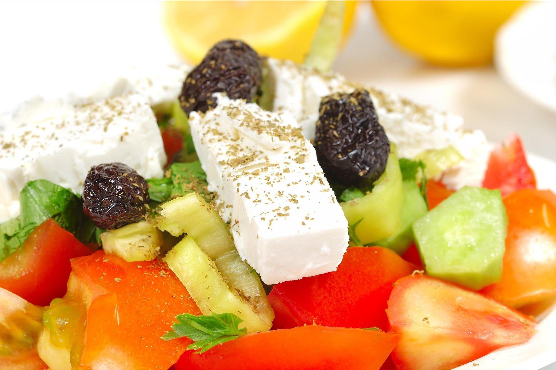 Een Griekse salade