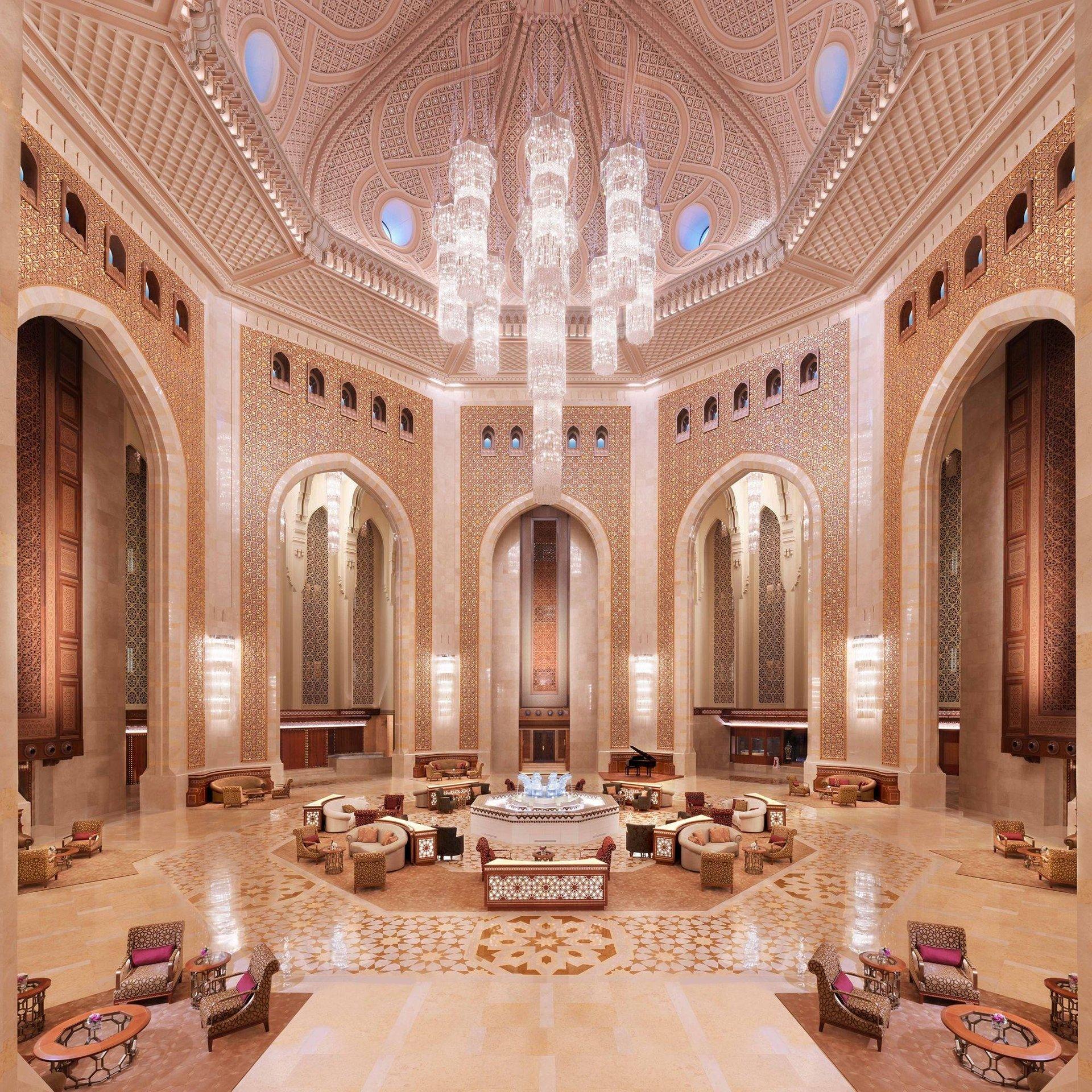 Hotel Al Bustan Palace lobby - Muscat