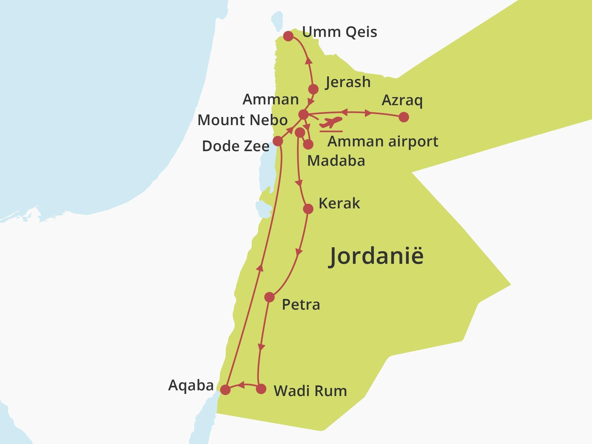 Privérondreis Veelzijdig Jordanië