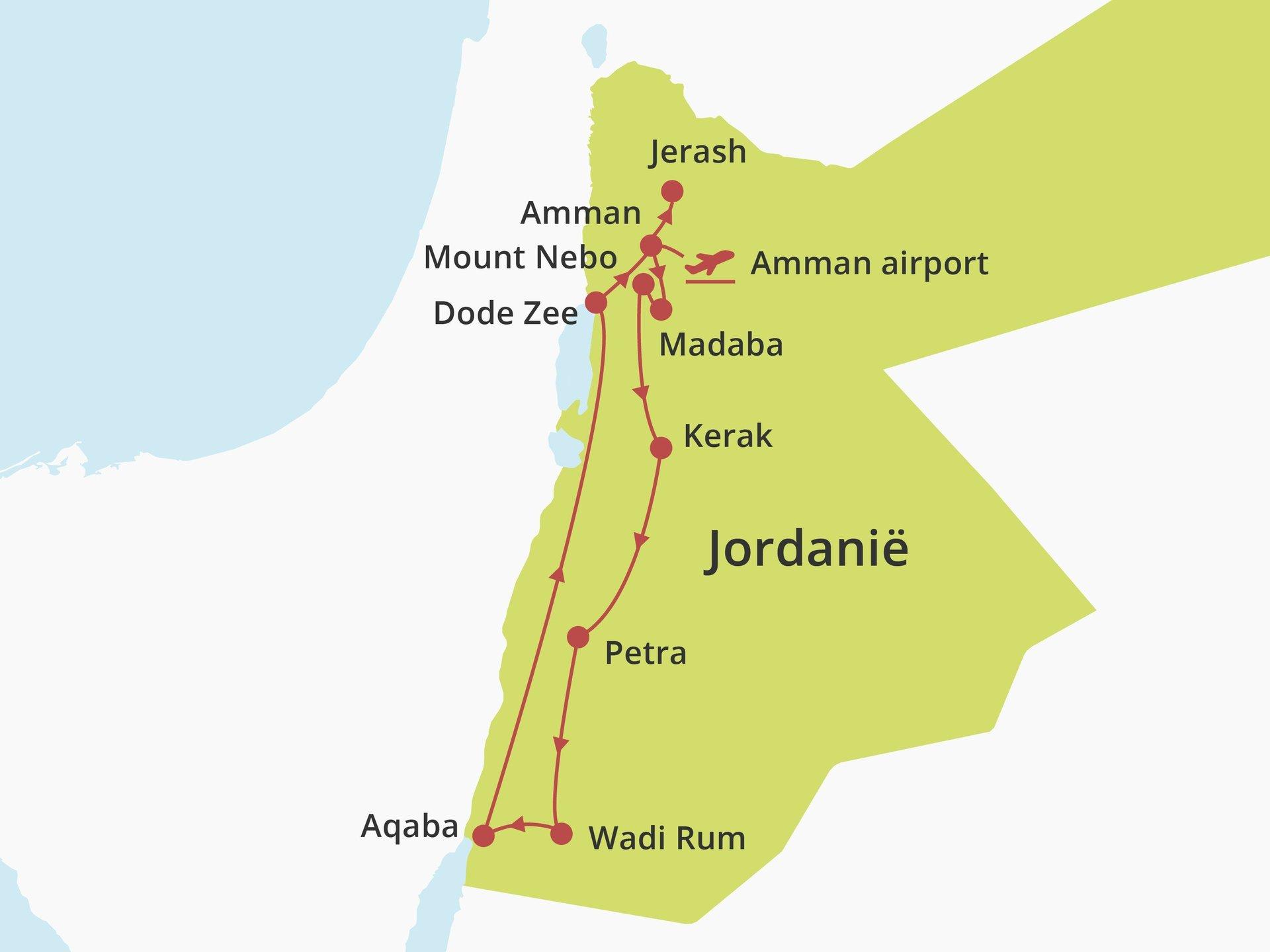 Fly-drive De Hoogtepunten van Jordanië