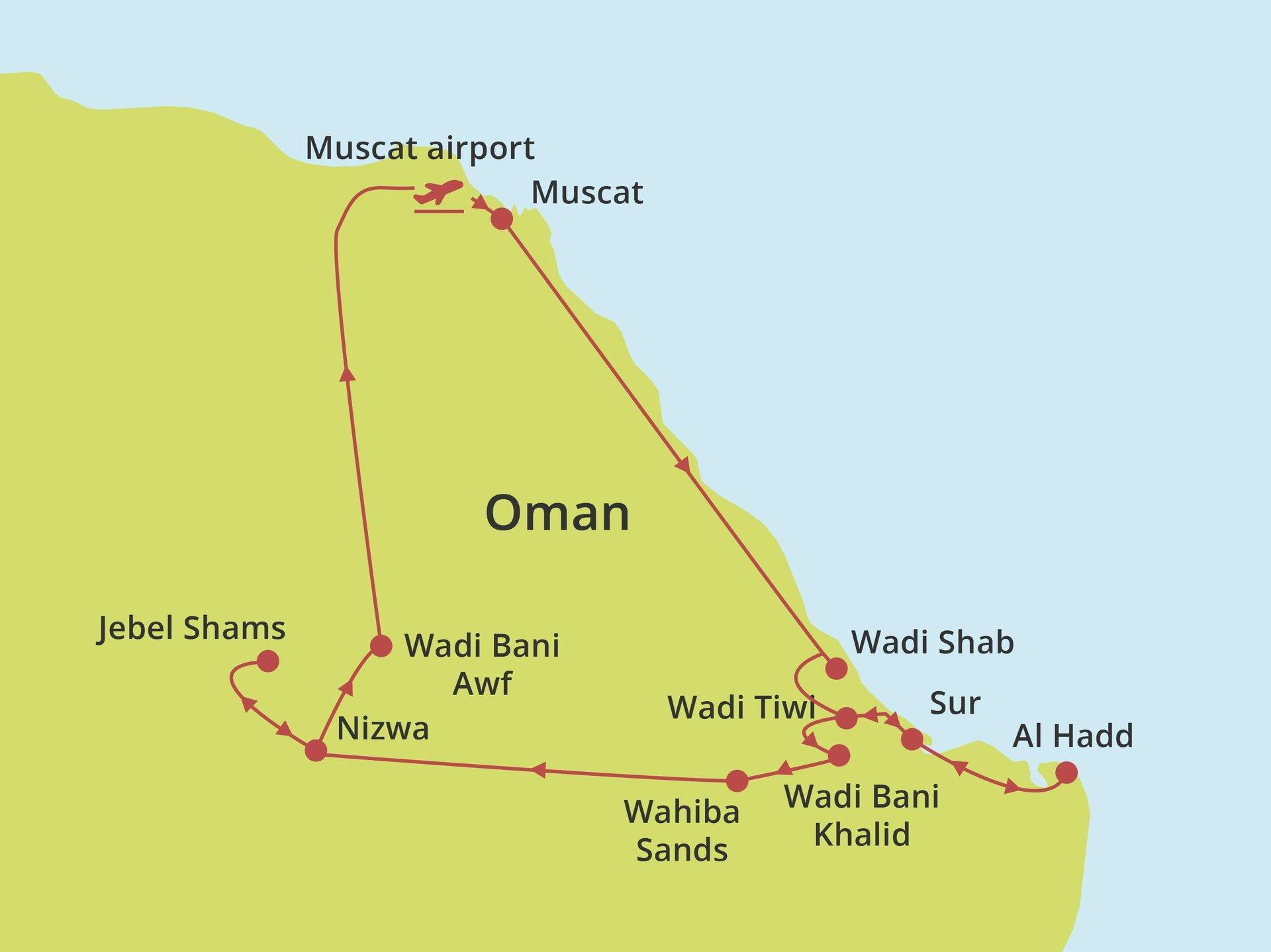 Groepsrondreis Oman Adventure