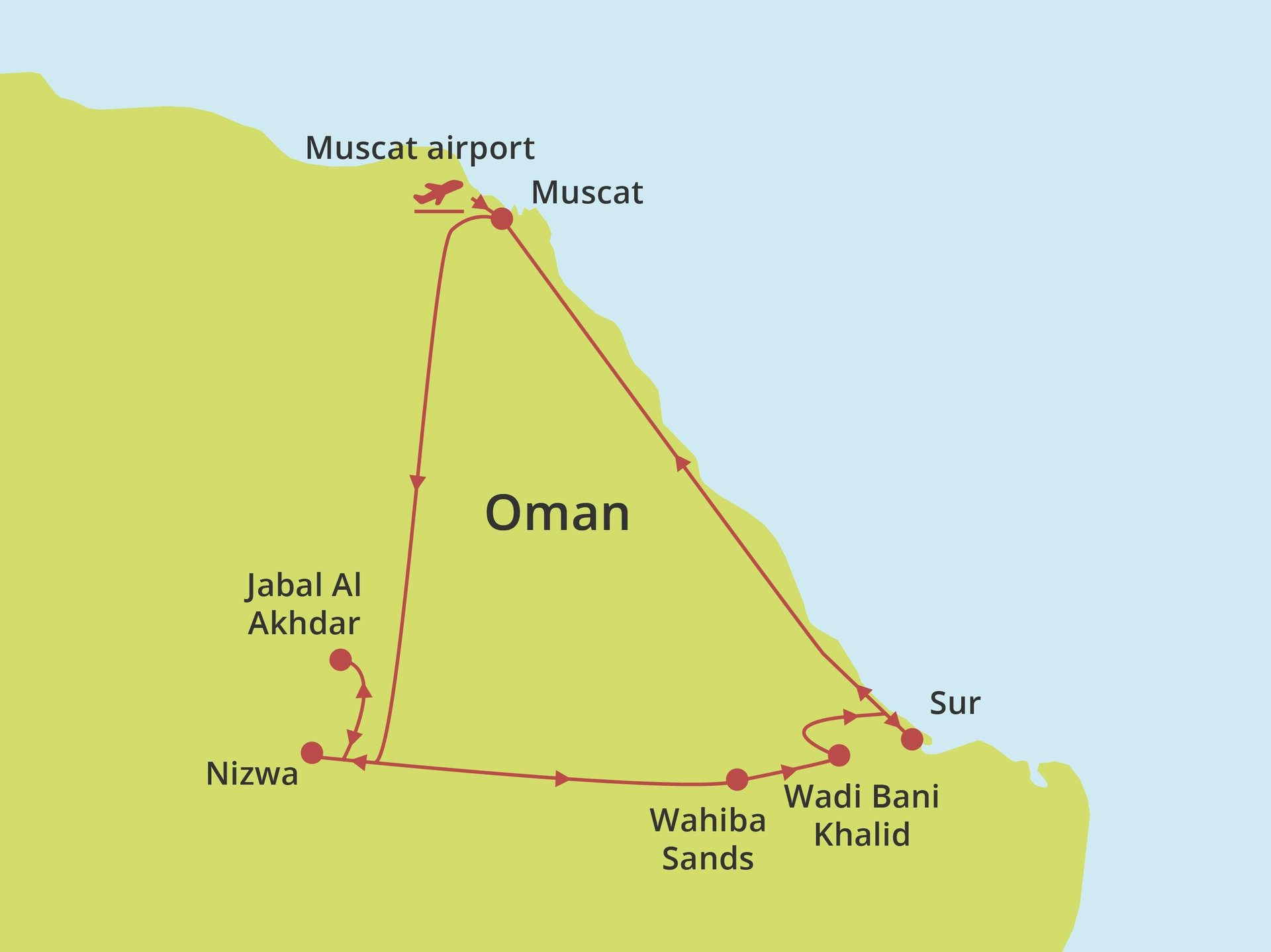 Fly-drive Ontspannen Oman