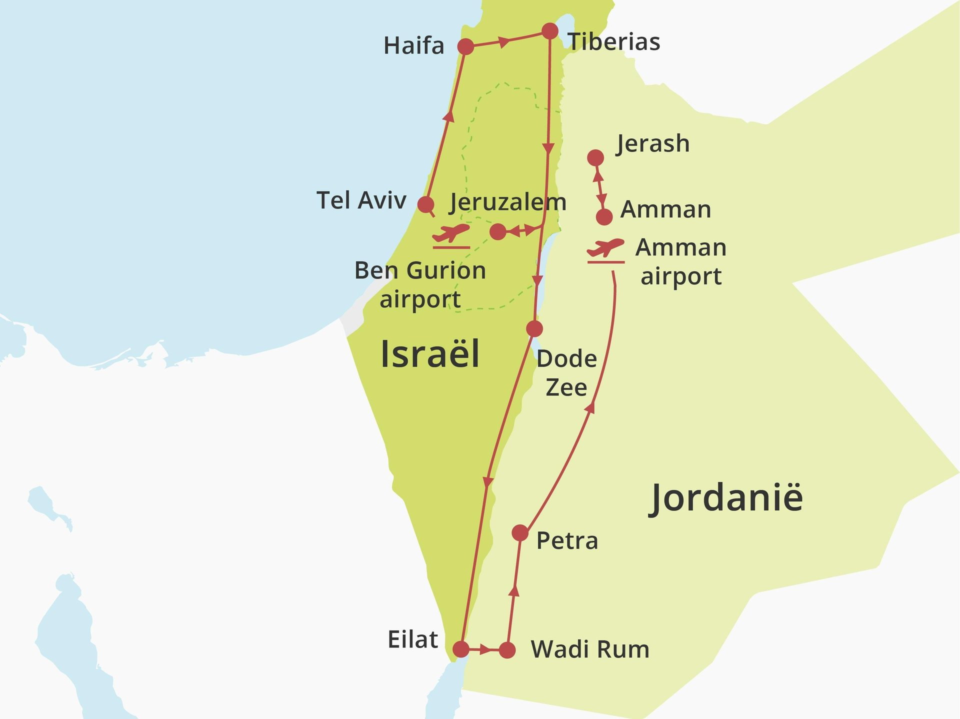 Fly-drive Israël & Jordanië