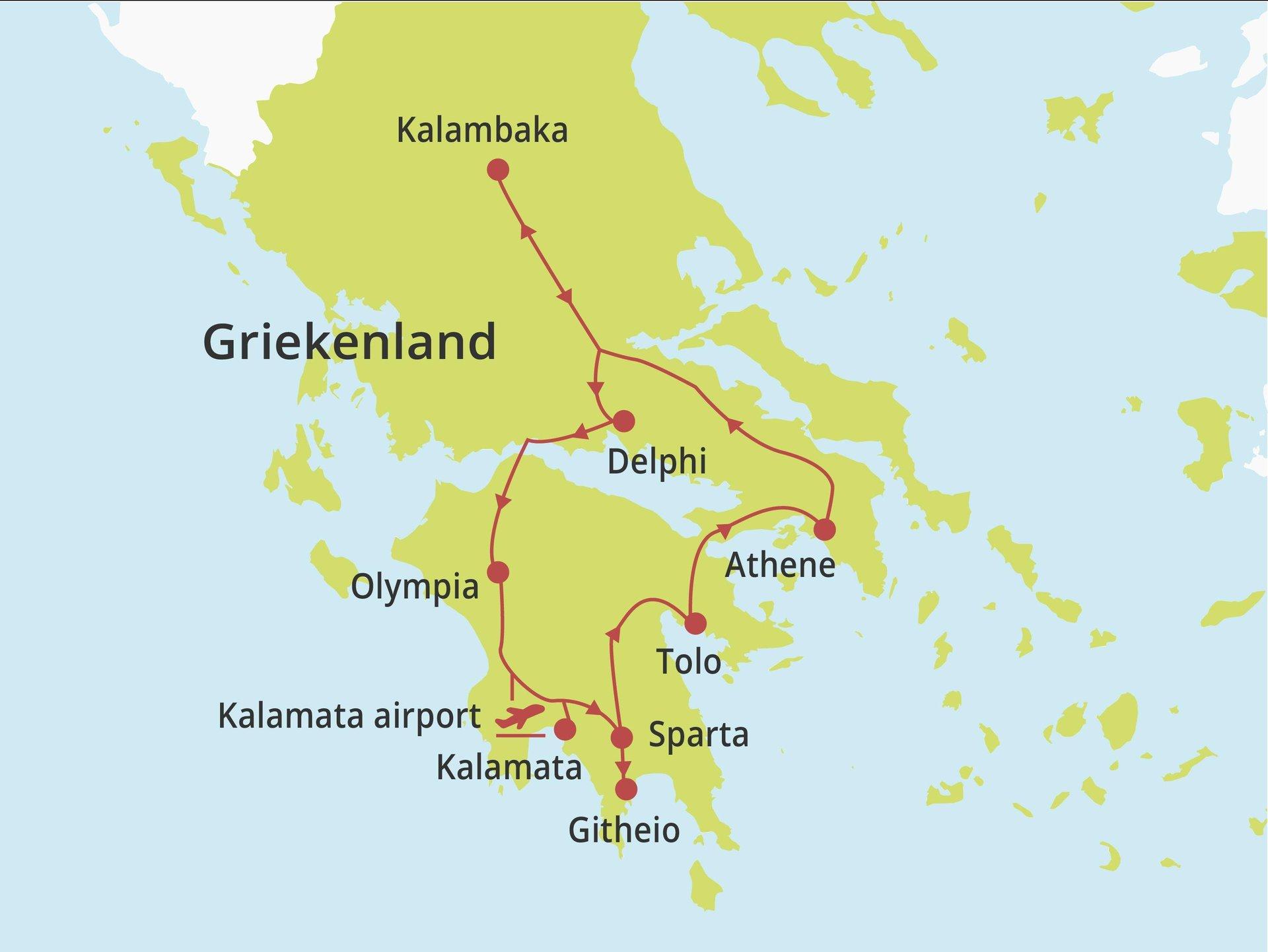 Fly-drive Hellas Totaal vanaf Kalamata