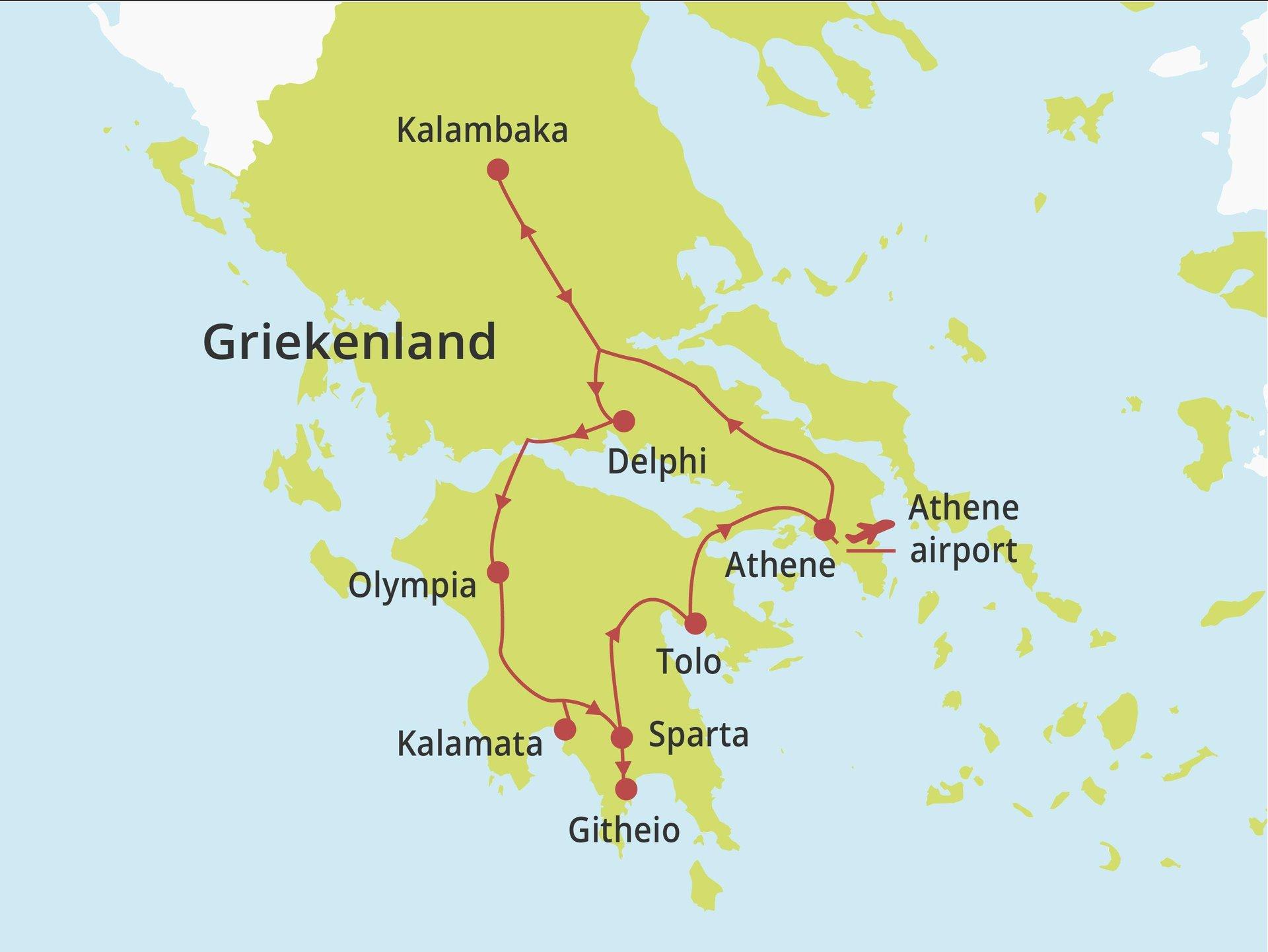 Fly-drive Hellas Totaal vanaf Athene