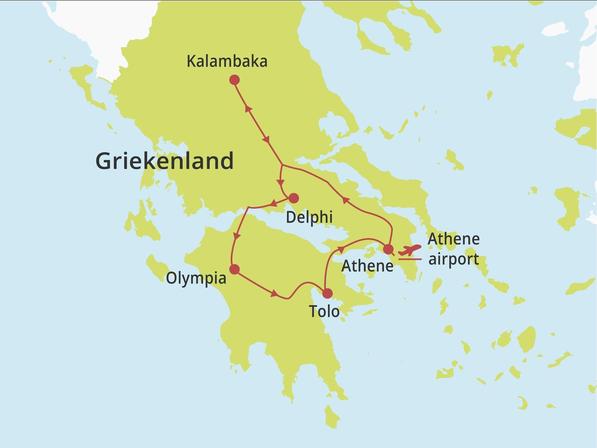 Fly-drive Mystieke kloosters vanaf Athene