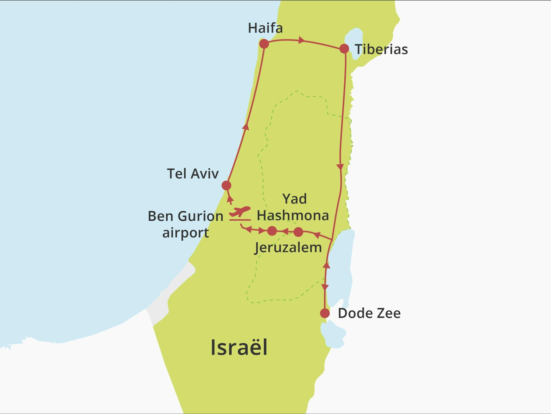 Kibboets fly-drive Hoogtepunten van Israël