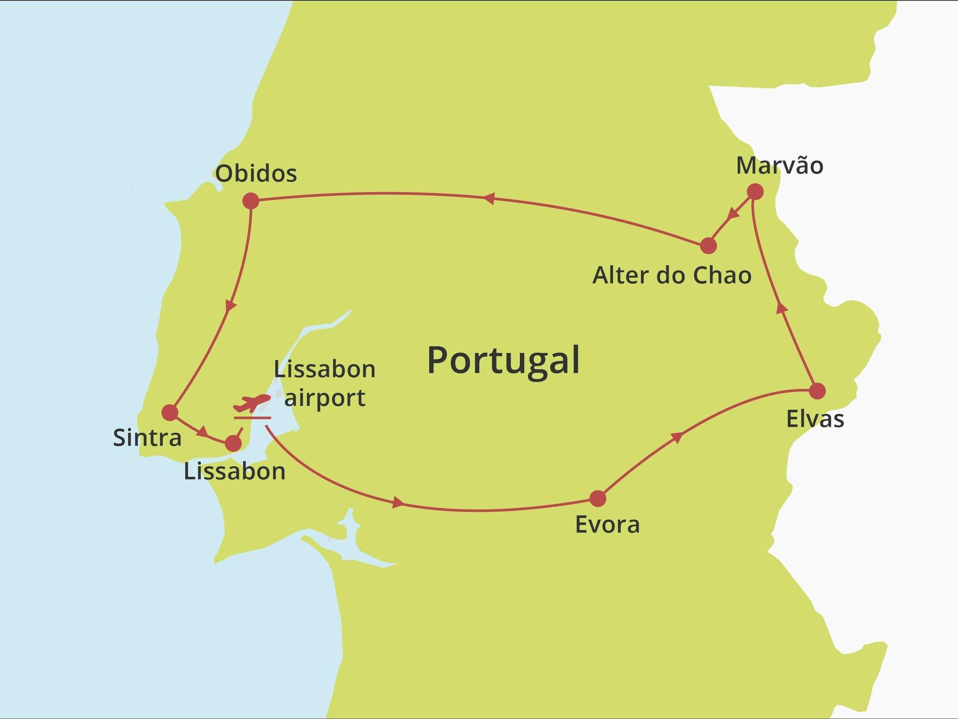 Fly-drive Alentejo en Lissabon kust (hotels) 8 dagen