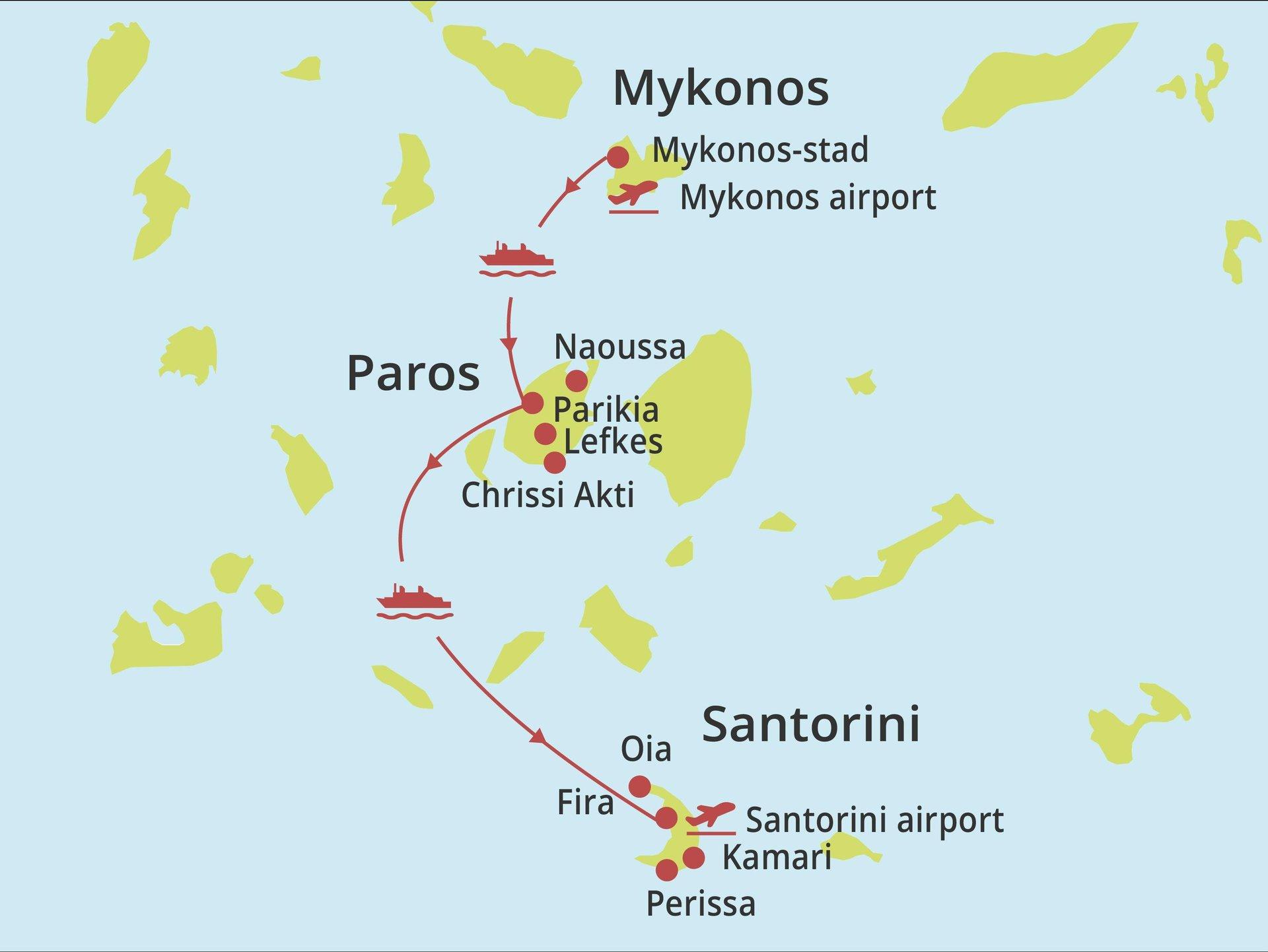 Eilandhoppen Paros - Santorini