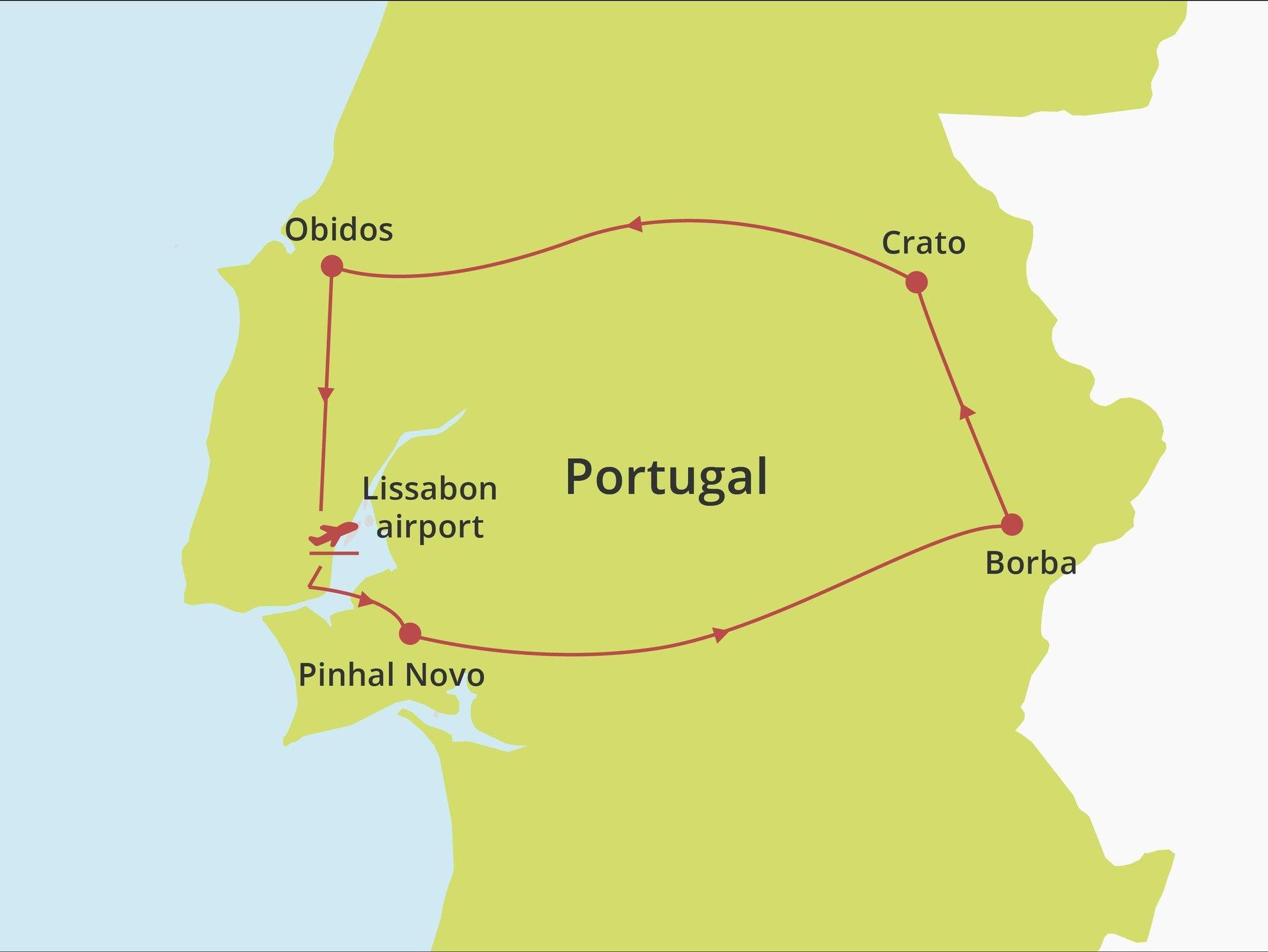 Fly-drive Lissabon kust en Alentejo (solares) 9 dagen