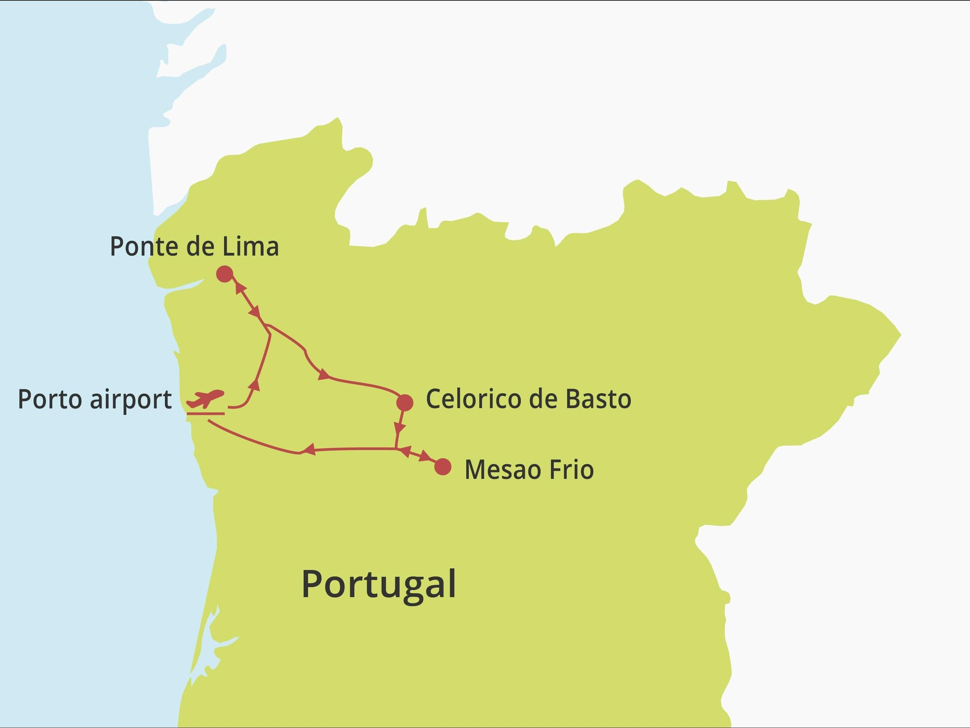 Fly-drive Noord Portugal (solares) 8 dagen
