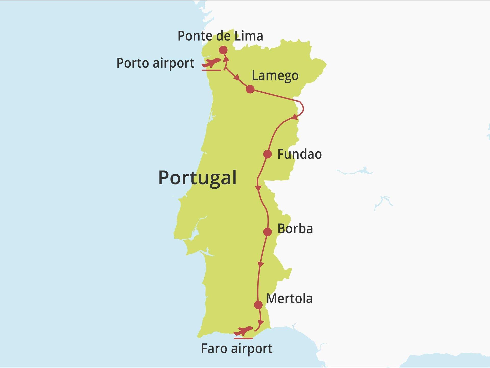 Fly-drive Noord, Centraal en Alentejo (solares) 11 dagen