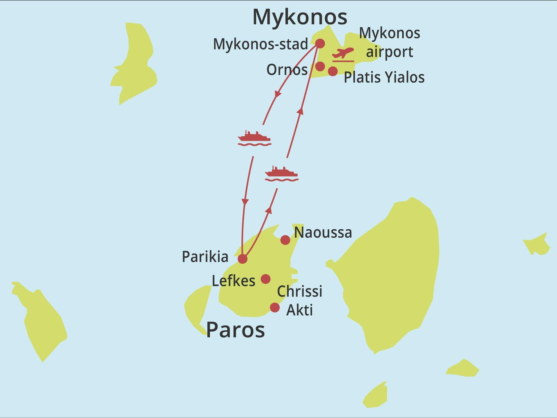 Eilandhoppen Paros - Mykonos