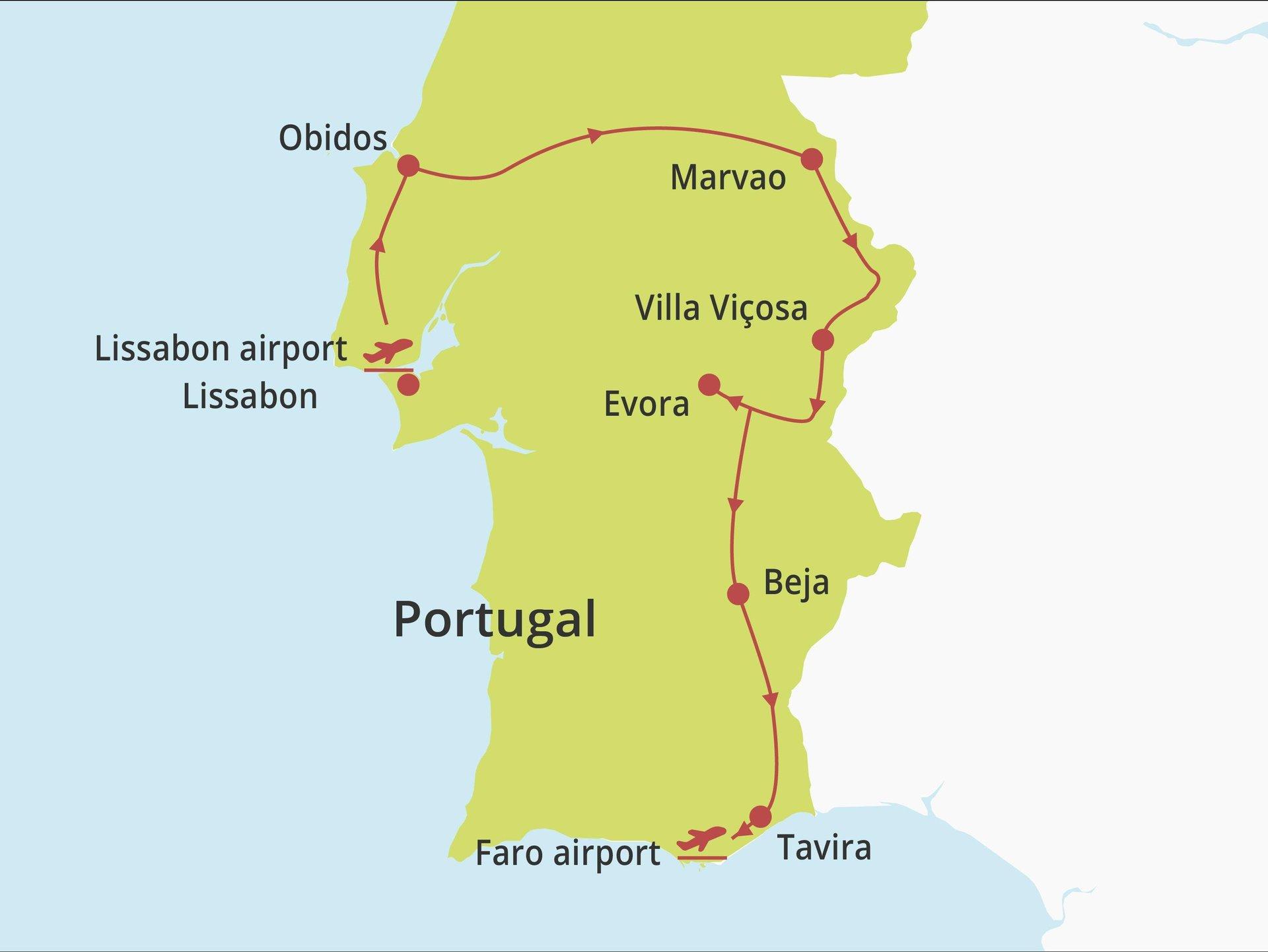 Fly-drive Lissabon kust, Alentejo en Algarve (pousadas) 11 dagen