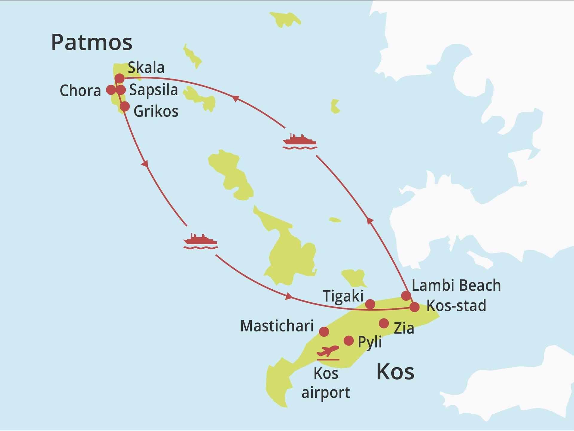 eilandhoppen Kos - Patmos