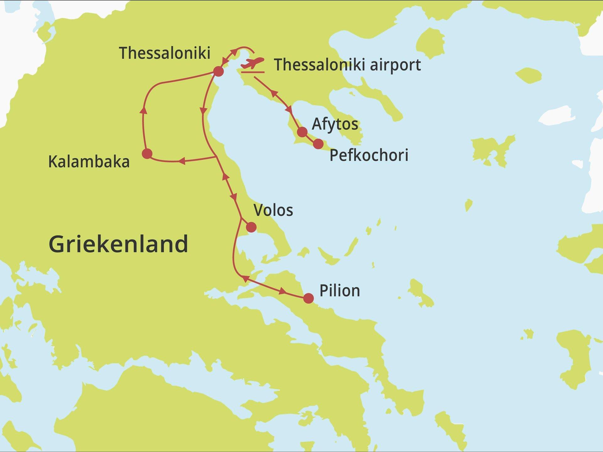 Fly-drive Noordelijk Hellas & Pilion
