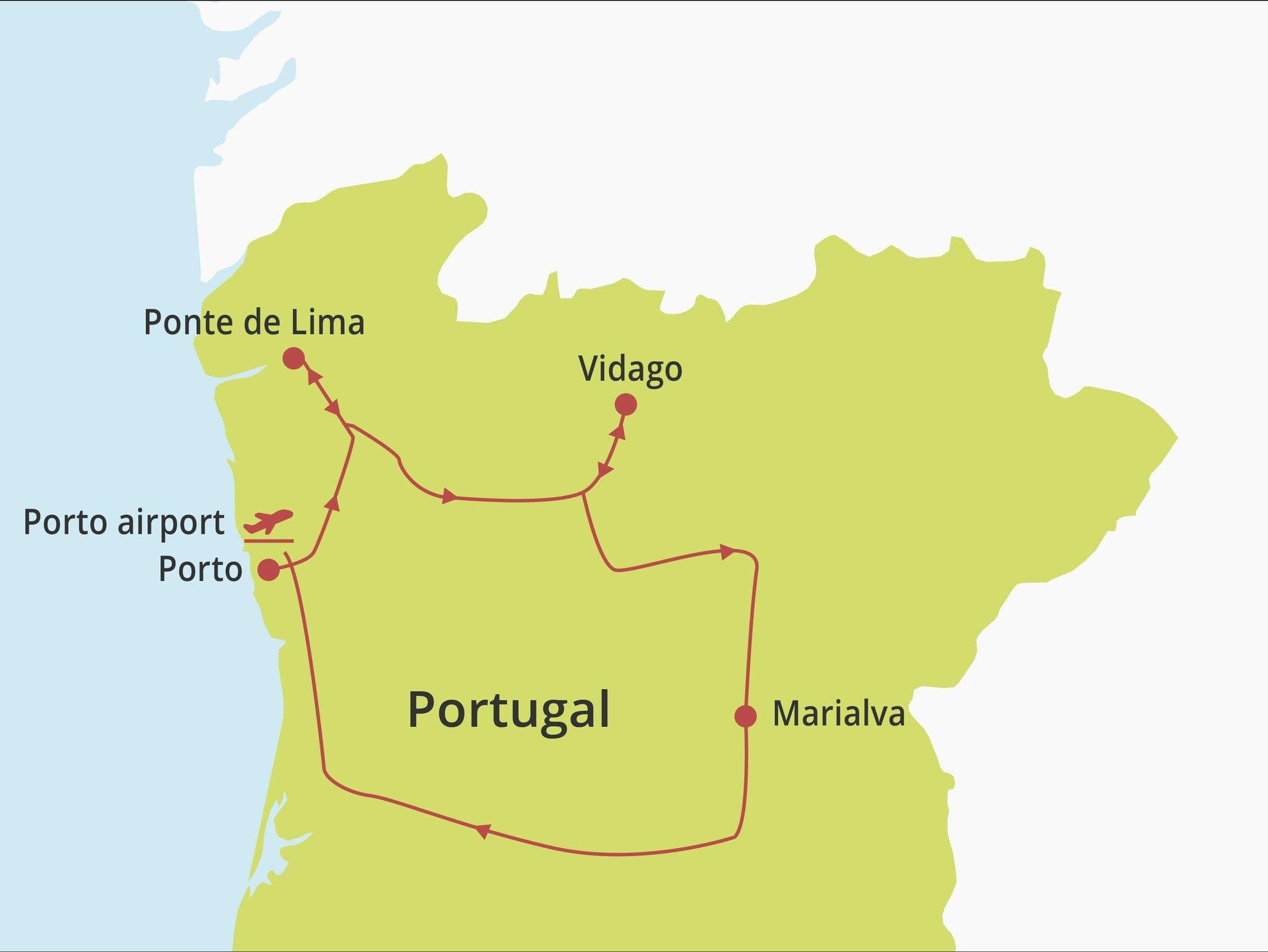 Fly-drive Romantiek in Noord en Centraal Portugal