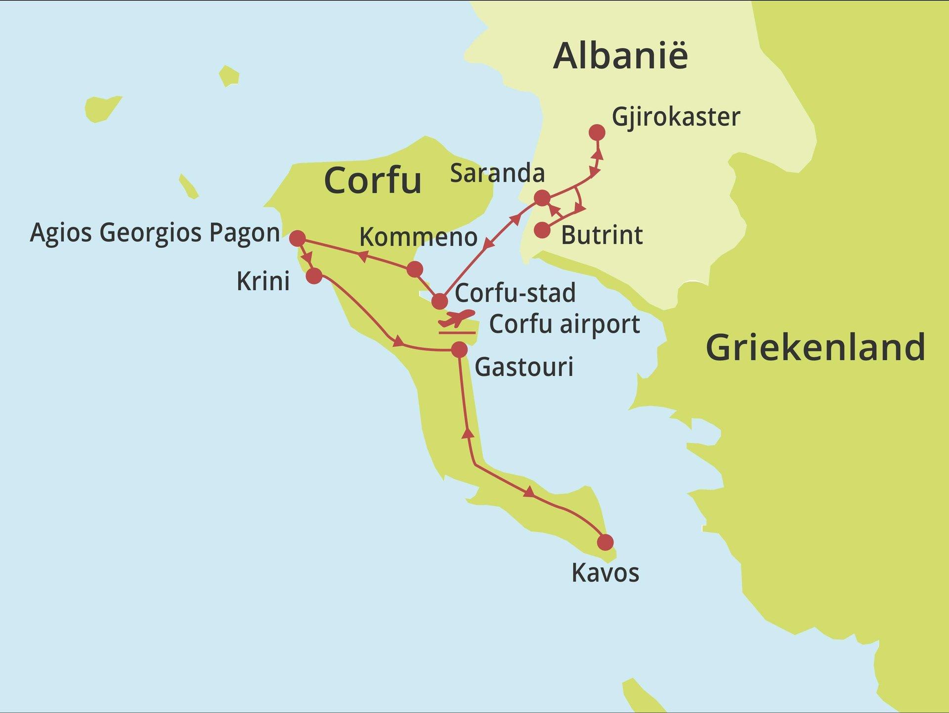 Privérondreis Corfu & onbekend Albanië