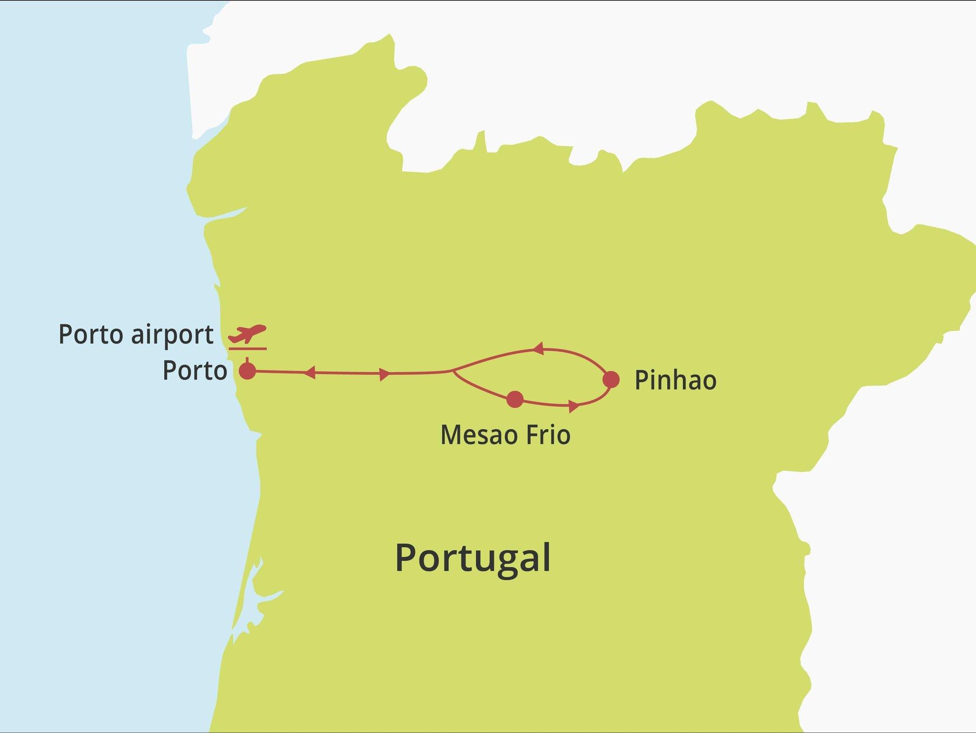 Fly-drive Porto & Doura deluxe (hotels) 8 dagen
