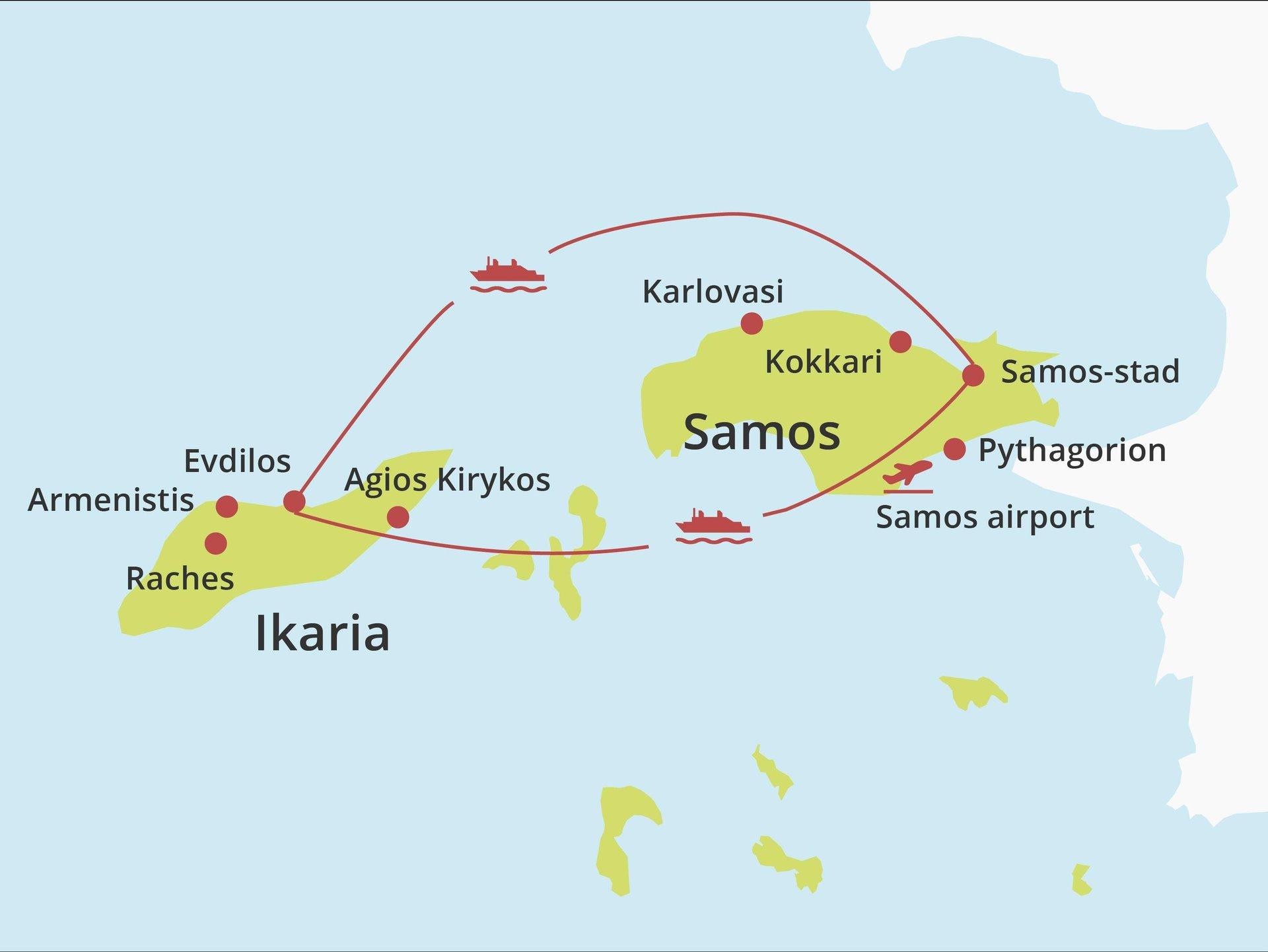Eilandhoppen Ikaria - Samos