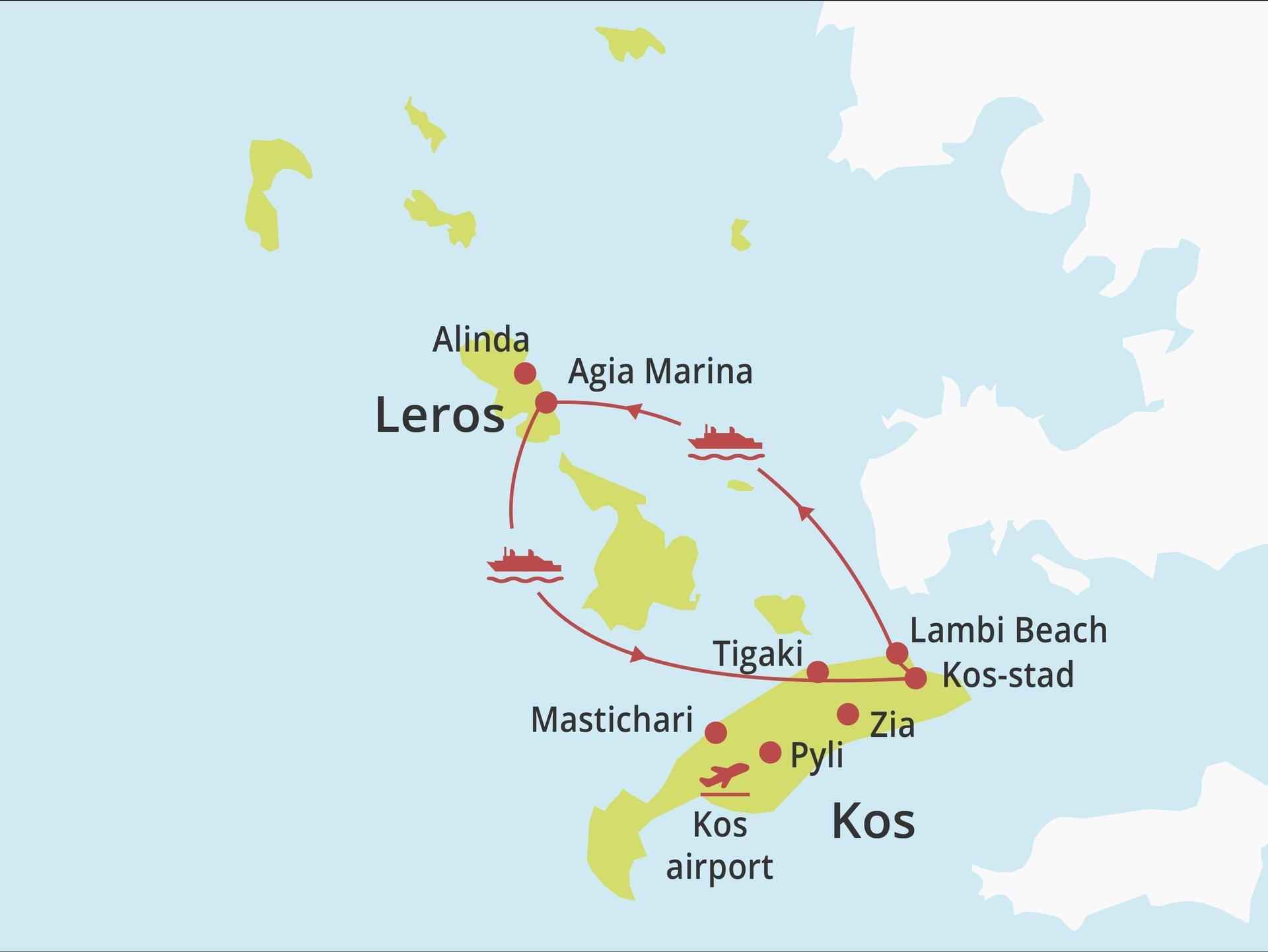 Eilandhoppen Kos - Leros