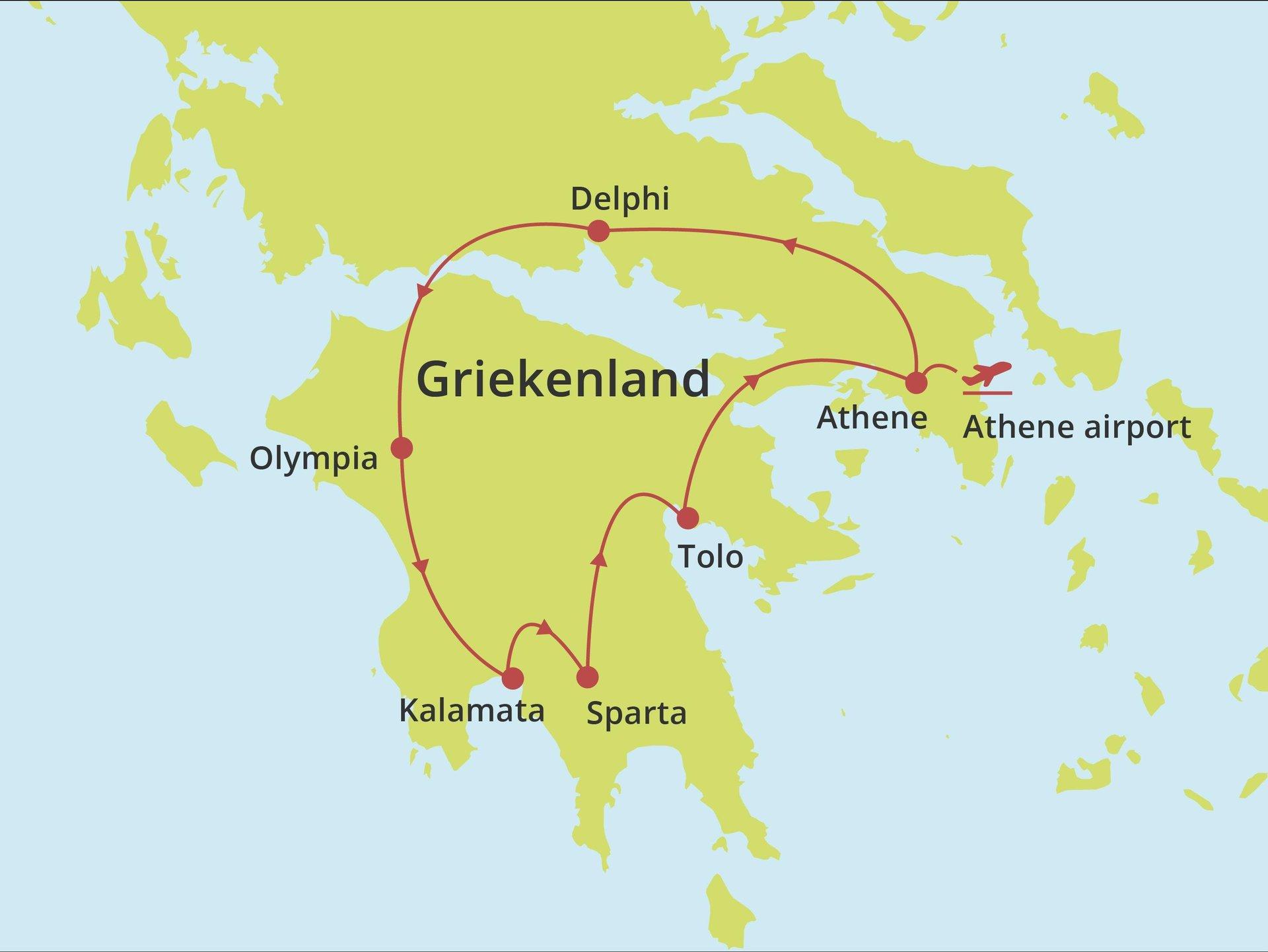 Fly-drive Klassiek Griekenland vanaf Athene