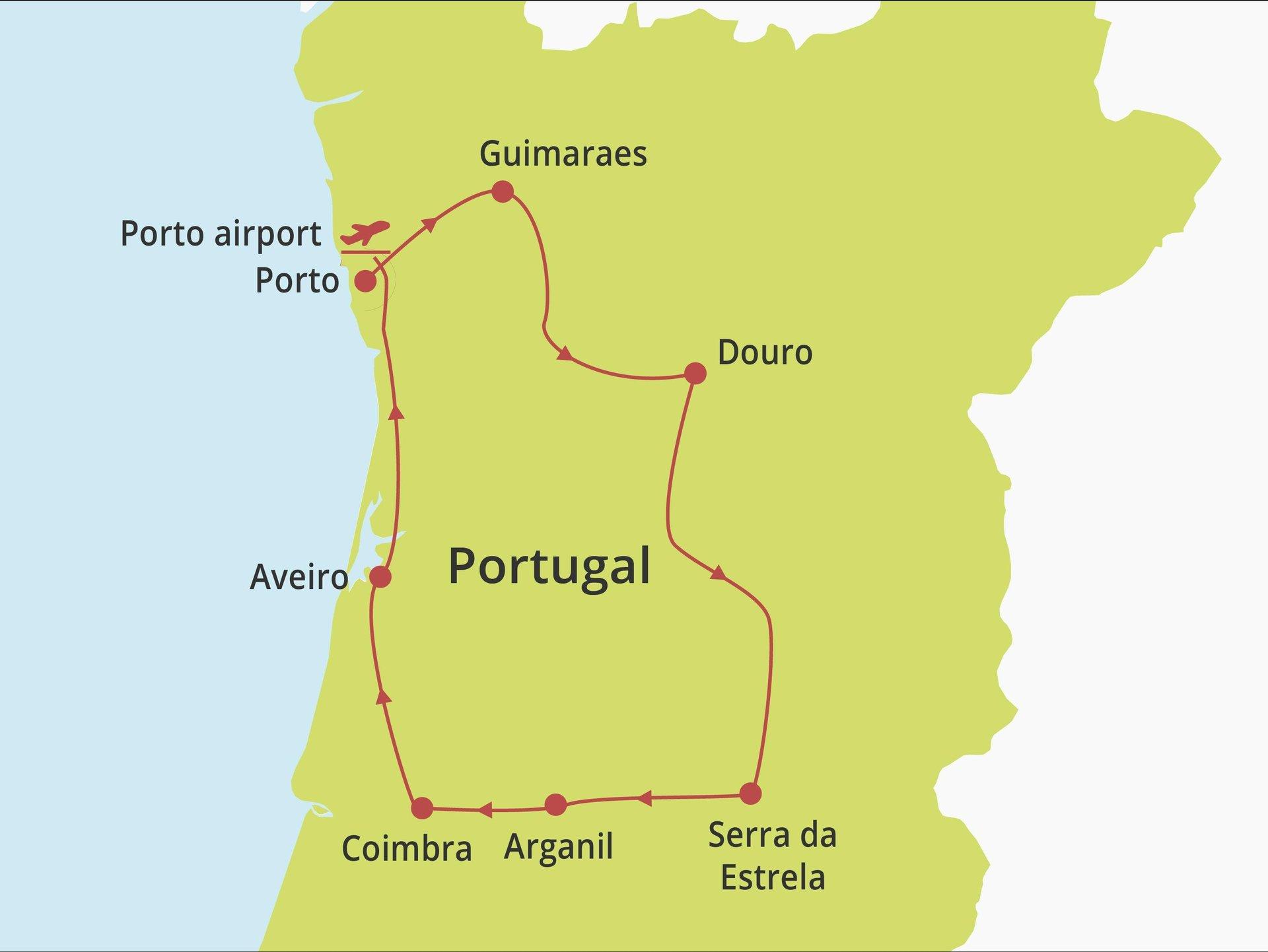 Fly-drive Noord en Centraal Portugal (hotels) 8 dagen