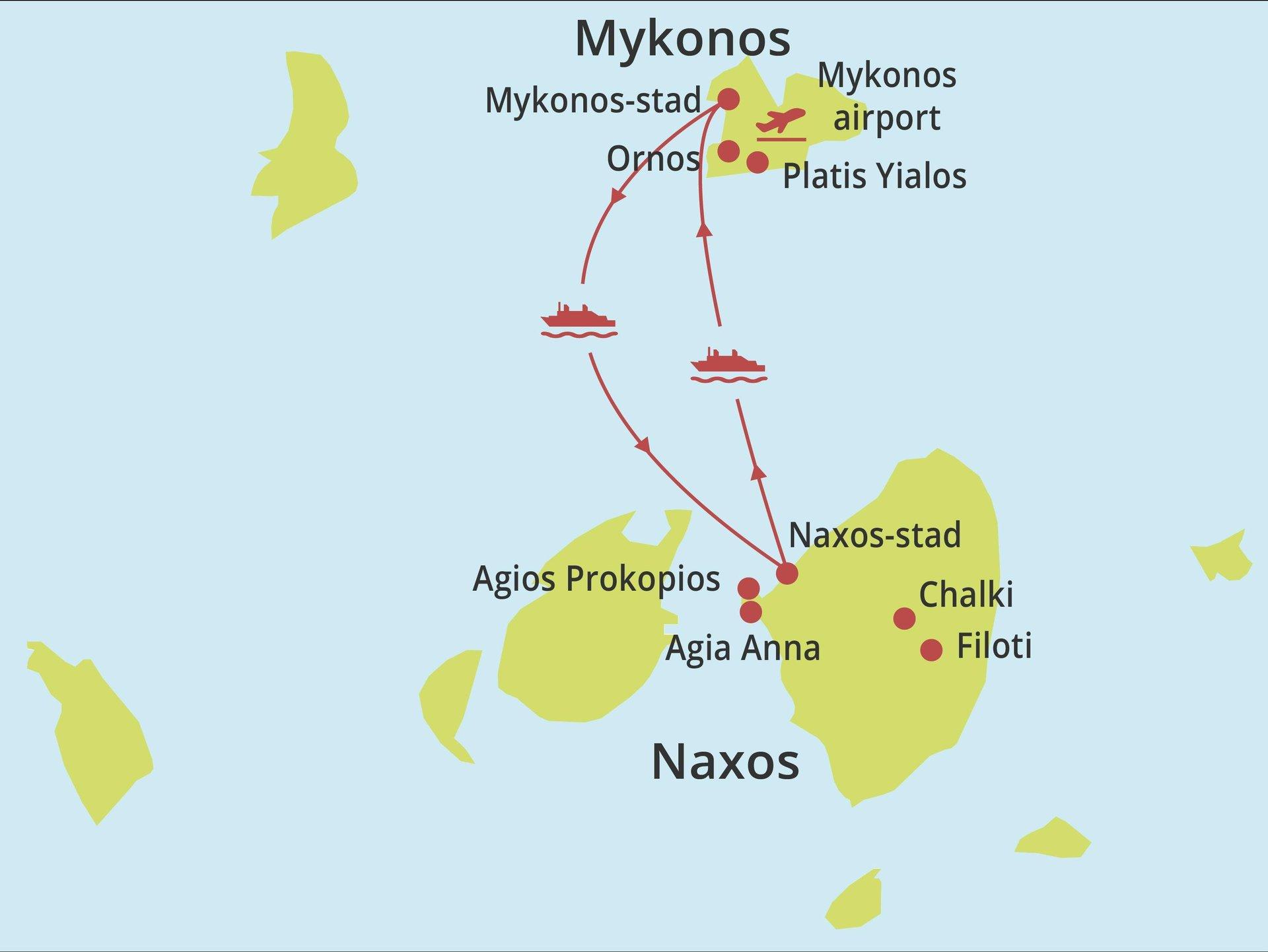 Eilandhoppen Naxos - Mykonos