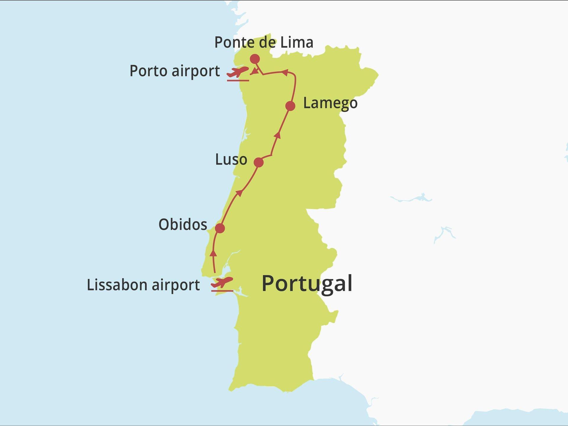 Fly-drive Centraal en Noord Portugal (solares) 9 dagen