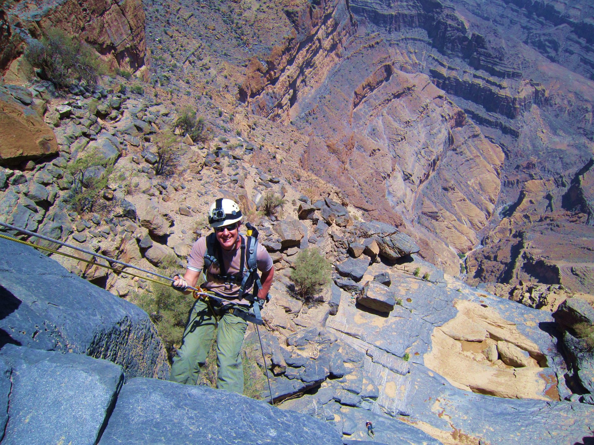 Abseilen Jebel Shams - Oman
