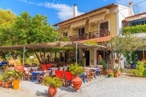 Samos - Taverne onderweg