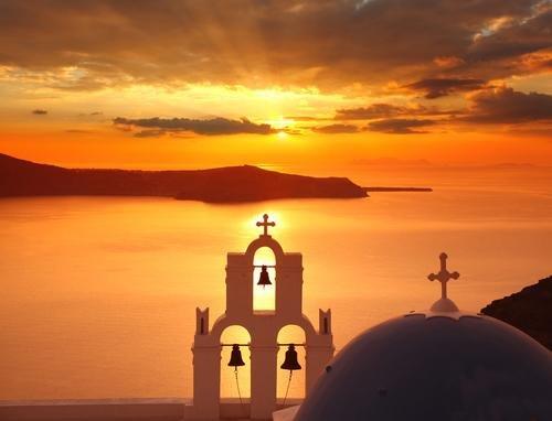 Santorini - zonsondergang