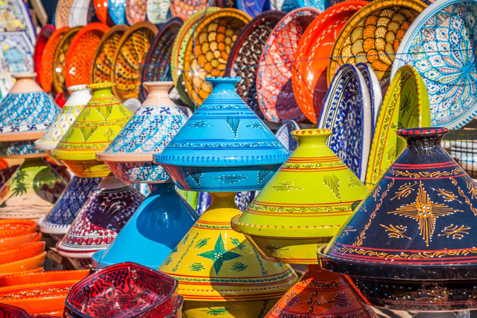Kleurrijke tajines Marokko
