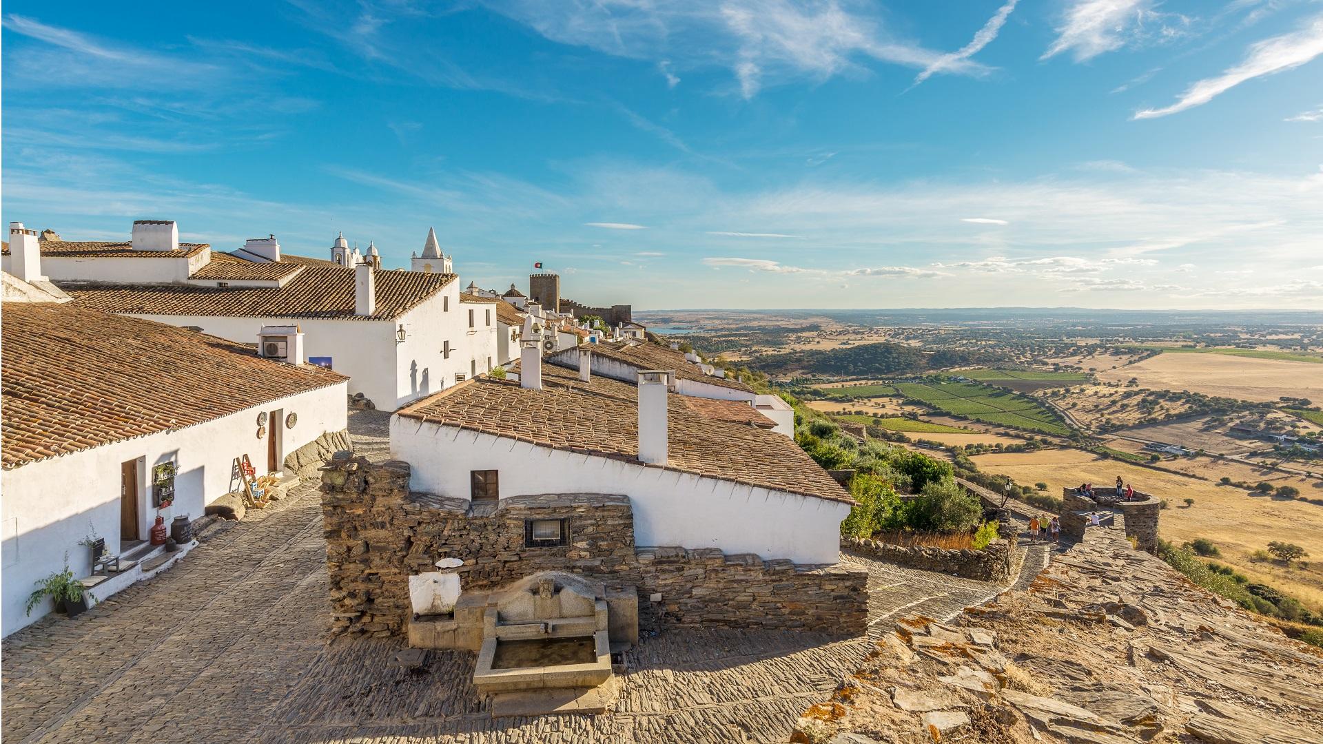 Het dorpje Monsaraz in de Alentejo, Portugal