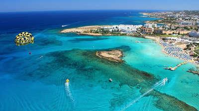 Het strand bij Protaras, Cyprus