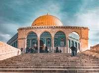 De prachtige gouden koepel in Jeruzalem, Israël